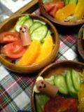 サラダのウインナー
