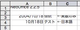 NeoOfficeで表示のサンプル