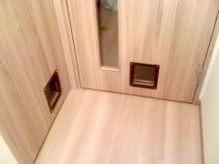猫ドア設置完了